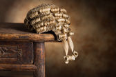 Barrister's wig — Stock Photo