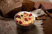 Light on crunchy cereals breakfast — Stock Photo