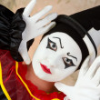 Pierrot doing mime — Stock Photo #49071273