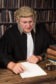 Smiling old judge — Stock Photo