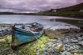 Abandoned boat on Isle of Lewis — Stock Photo