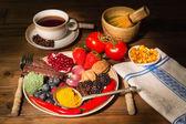 Antioxidant dinner — Stock Photo