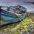 Rusty boat on Scottish beach — Stock Photo #50479203