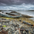 Scottish beach and old boat — Stock Photo #50953595
