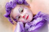 Blond clown girl — Stock Photo
