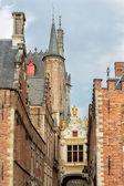 средневековые улочки города брюгге — Стоковое фото