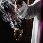 Incense burning in church — Stock Photo #51716439