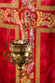 Incense in thurible — Stock Photo