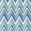 Stock Vector: Seamless aztec pattern in blue tints