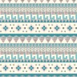 Stock Vector: Seamless tribal pattern in pastel tints