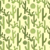 Seamless pattern with cactus 1 — Stock Vector
