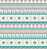 Seamless tribal pattern in pastel tints — Stock Vector