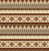 Seamless tribal pattern in brown tints — Stock Vector