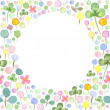 Watercolor frame template with spring flowers 2 — Stock Photo