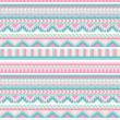 Seamless aztec pattern in pastel tints — Stock Vector