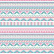Stock Vector: Seamless aztec pattern in pastel tints