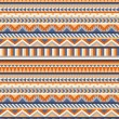 Stock Vector: Seamless navajo pattern