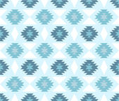 Seamless ethnic pattern in cold colors — Stock Vector