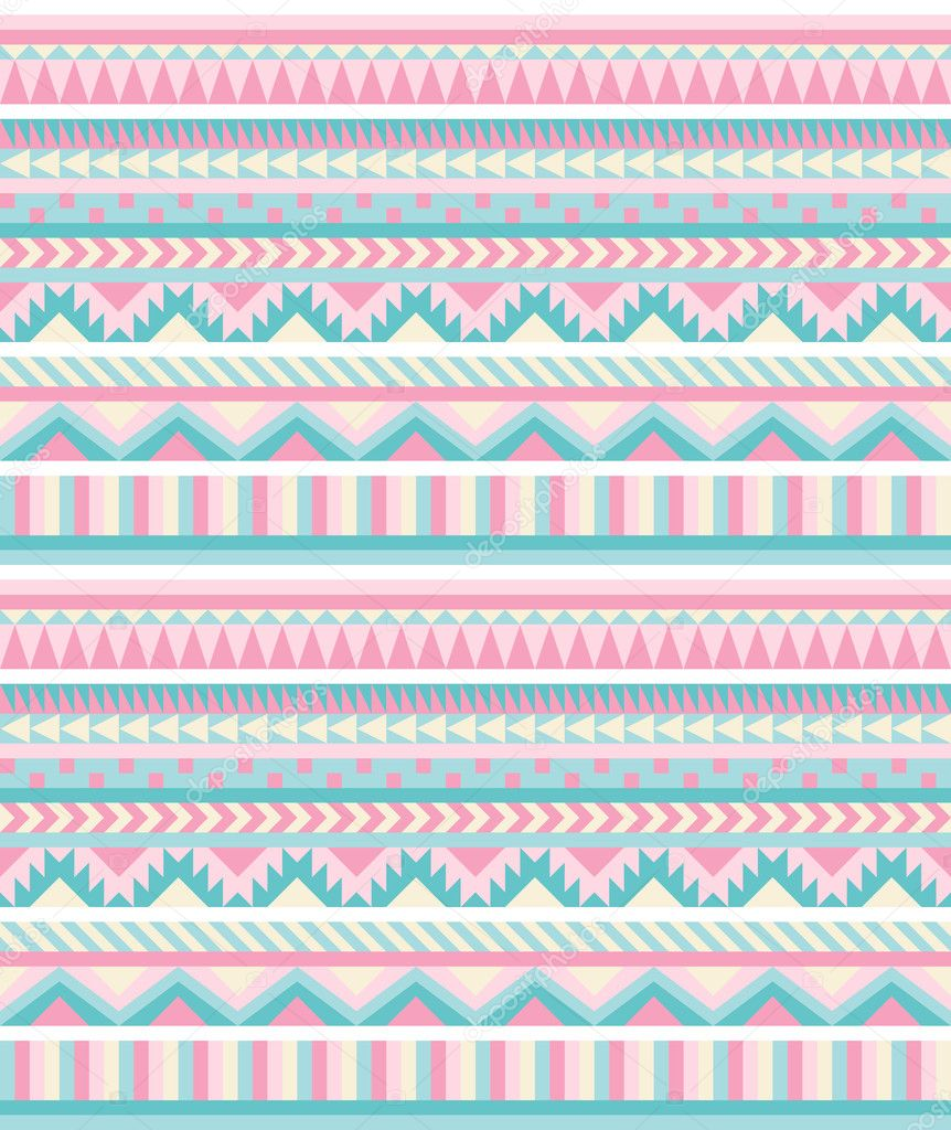seamless aztec pattern in pastel tints � stock vector