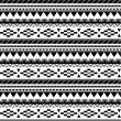 Seamless aztec pattern in black and white 3 — Stock Vector #27506269
