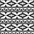 Seamless aztec pattern in black and white 2 — Stock Vector
