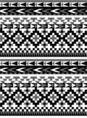 Naadloze azteekse patroon in zwart en wit 1 — Stockvector