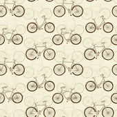 Seamless pattern with vitage bicycles — Stock Vector
