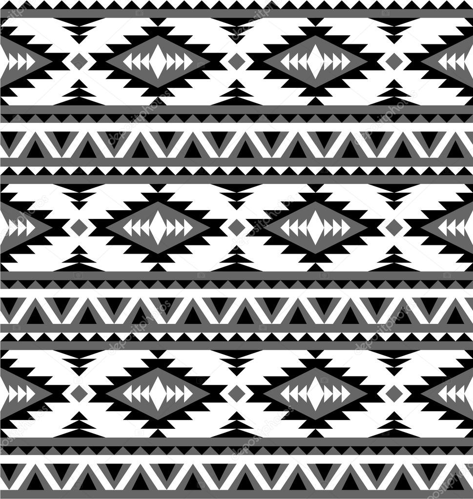 Seamless aztec pattern in black and white 2     Stock IllustrationBlack And White Aztec Pattern Background