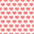 Seamless pattern with cute geometric hearts — Stock Vector