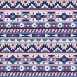 Seamless native american pattern — Stock Vector