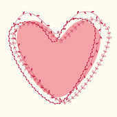 Schöne Einladungskarte mit Herz — Stockvektor
