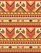 Seamless geometric aztec pattern — Stock Vector