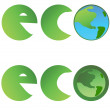 Eco lettering - Stock Vector