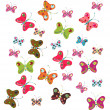 Set of decorative butterflies - Stock Vector