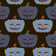 Dark seamless pumpkin ornament — Stockvektor #12329878