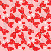Red butterflies — Vettoriale Stock