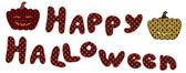Halloween lettering with pumpkins — Stock Vector