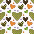 Royalty-Free Stock Vector Image: Patchwork hearts on white background