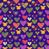 Pattern with hearts — Vettoriale Stock