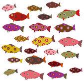 Set of decorative fish — Stock Vector