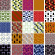 Collection of colorful patterns — Stock Vector #13196486