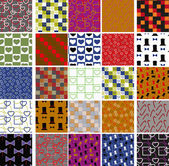 Collection of colorful patterns — Stock Vector