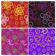 Vettoriale Stock : Set of seamless bright patterns