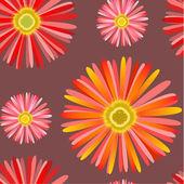 Seamless pattern with Сhrysanthemum — Stockvektor