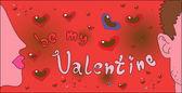 Valentine lettering — Stock Vector