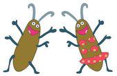 Happy bugs — Stock Vector