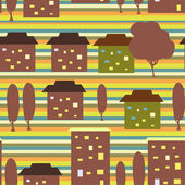 City seamless pattern — Stock Vector