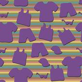 летняя одежда орнамент — Cтоковый вектор
