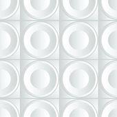 Volume white pattern — Stock Vector