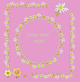Set of floral frames — Stock Vector